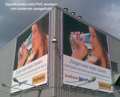 Pag 29 - spanframe met spandoek PVC Brabant water