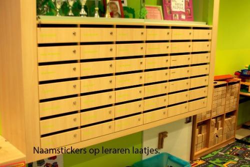 pag 14 - Naamstickers in stijl op leraren laatjes